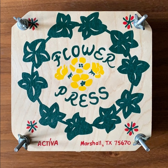 Vintage Activa Flower Press Boho Craft Supplies